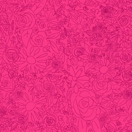 Y3076-77 Clothworks Painted Petals Doodle Floral