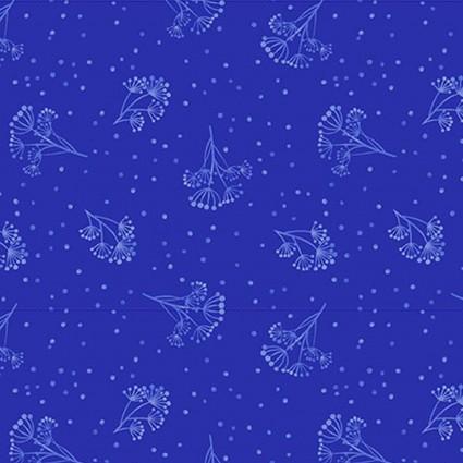 Y3134-31 Royal Blue Sprig Colorido Clothworks