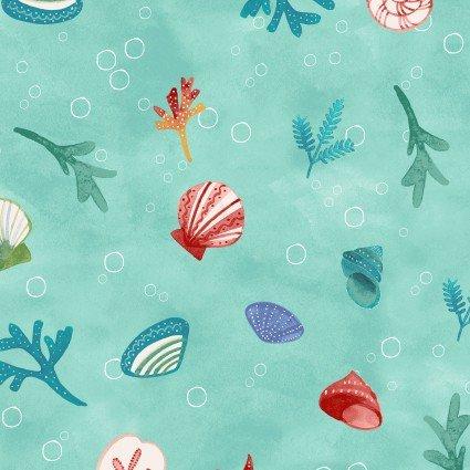 Sanibel Sea Shells Aqua