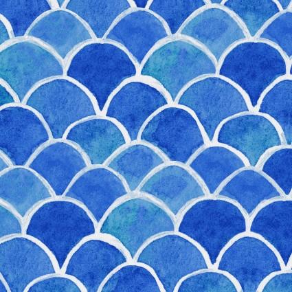 Sanibel Fish Scales Light Royal Blue