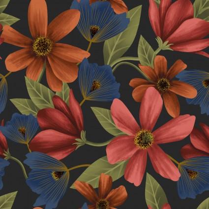 Y3229-7  Clothworks Canto Dark Gray Cosmos