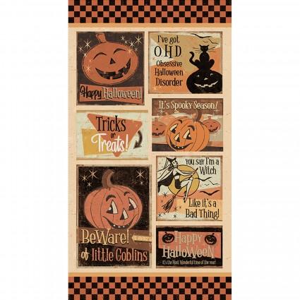 Retro Halloween 24 Panel
