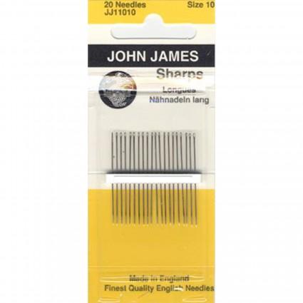 John James Sharps Needles - Size 10
