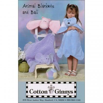 Animal Blankets and Ball