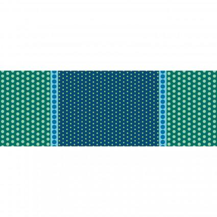 6002-54B Blue Playground - Border Print Dot Crazy