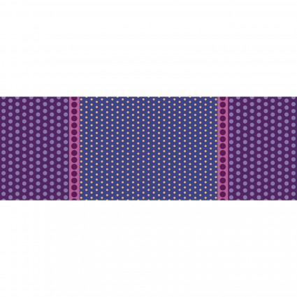 6002-60B Purple Border Print Dot Crazy