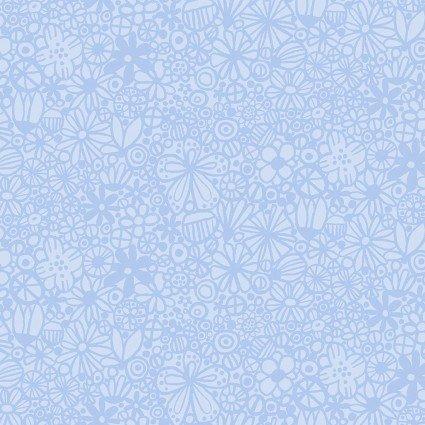 Contempo (Benartex) Baby Buddies Flowers - Blue