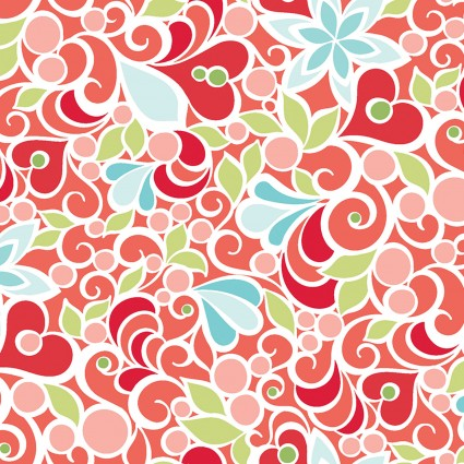Christmas Magic Floral Red