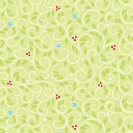 Christmas Magic- Green Swirls