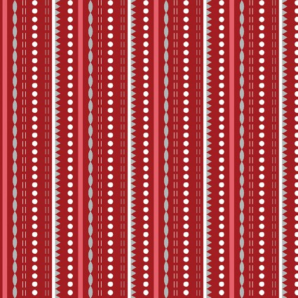 Let It Snow Dotted Stripe Red