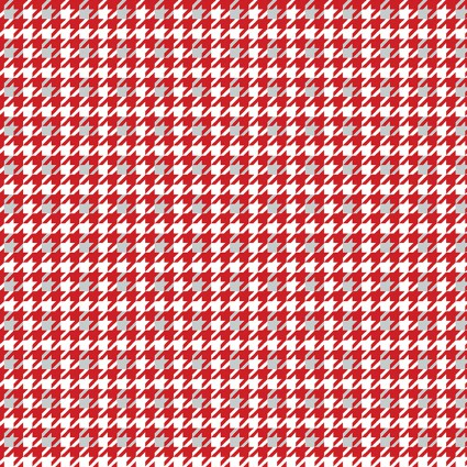 CON4584-10 Red/Gray Houndstooth Let It Snow