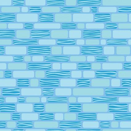Free Motion Fantasy Bricks Turquoise