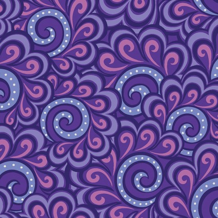 Free Motion Fantasy Swirl Feather Purples