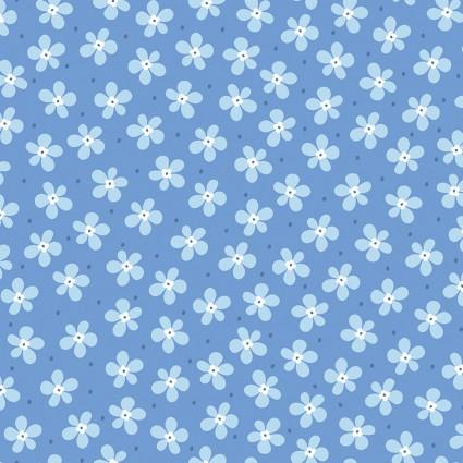 Front Porch - Happy Lt Blue Flowers