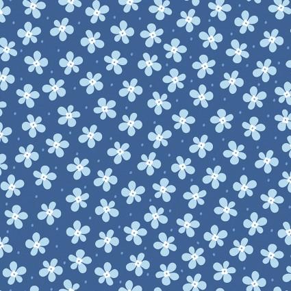 Front Porch -Happy Blue Flowers