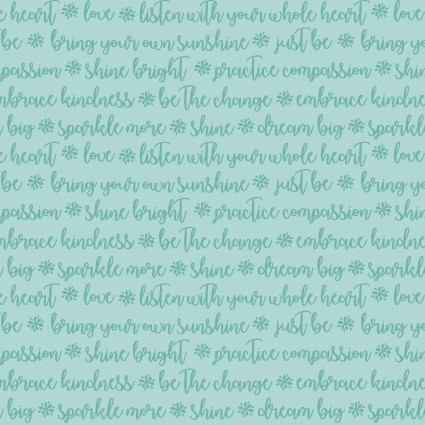 Choose to Shine  by Contemp Studio - Turquoise Words