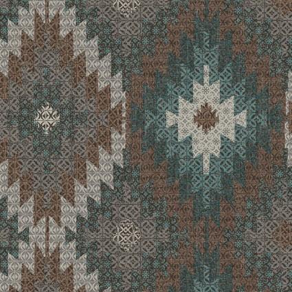 Modern Lodge Mountain Tapestry Lagoon/Earth