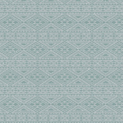 Benartex Modern Lodge 6965-84 Blue Southwest Stripe on White