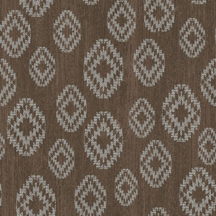 Benartex Modern Lodge 6966-77 Diamonds on Brown
