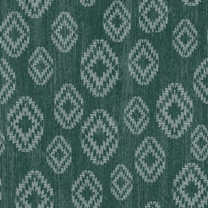 Benartex Modern Lodge 6966-85 Diamond on Teal