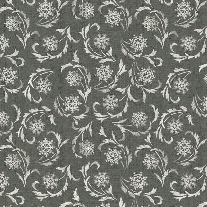 Benartex Modern Lodge 6967-11 Snowflake Scroll on Tan