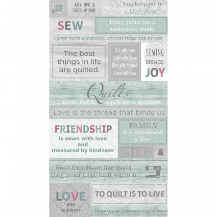 Words to Quilt By Panel 22x44