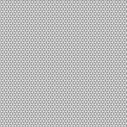 Geo Flower Grey/White