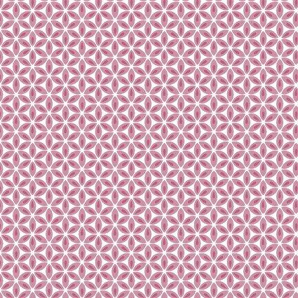 Geo Flower Pink/White