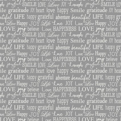 Words To Live By - Tiny Words Gray