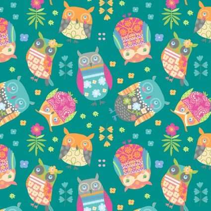 Awesome Owls Owls Teal/Multi