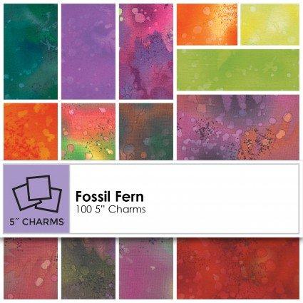 Fossil Fern 5 Charm 100 pieces