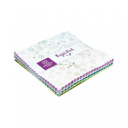 Bejeweled Batiks 5 Squares