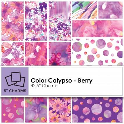 Kanvas Studio - Color Calypso Charm Pack- Berry