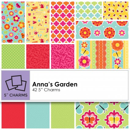 Patrick Lose - Anna's Garden Charm Pack - CP-SPR64064