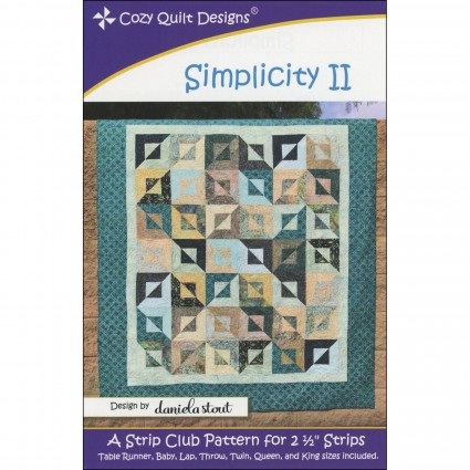 Simplicity II Strip Quilt Pattern
