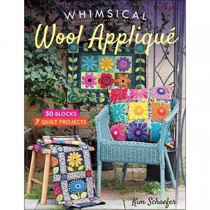 Whimsical wool applique - book