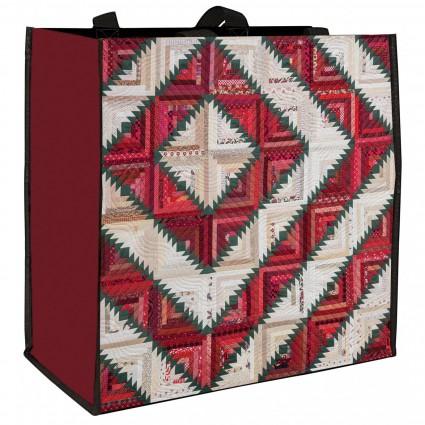 Holiday Log Cabin Tote Bag