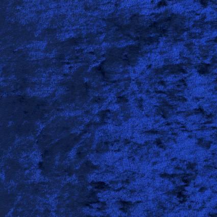 David Textiles Crushed Panne Velour - Navy
