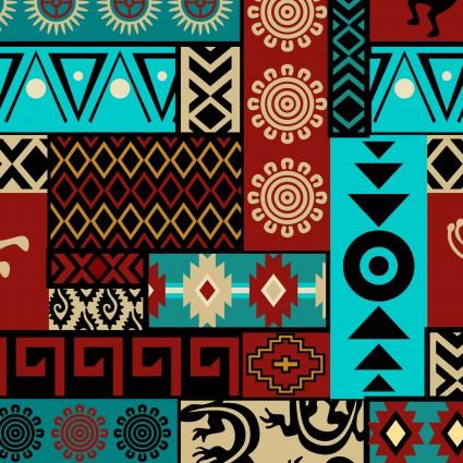 David Textiles - Mystical Native Patch-Turquoise