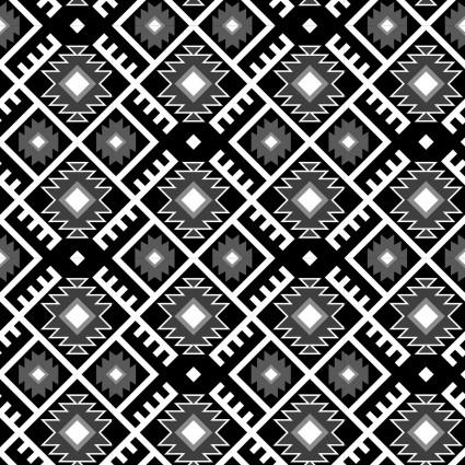 David Textiles - Mystical Native-Aztec Argyle-Black