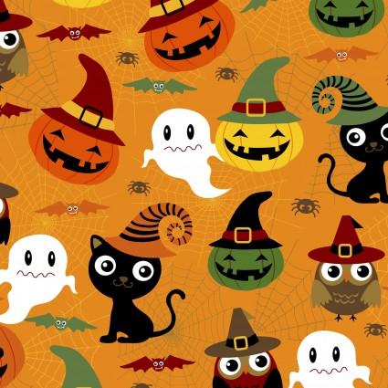 Halloween Prints - ORANGE MULTI