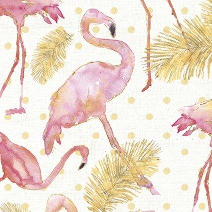 Flamingo Paradise - Pink/Gold Flamingo Paradise  WA-4168-8C-1