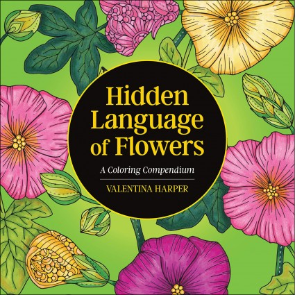 Hidden Language of Flowers Coloring Book
