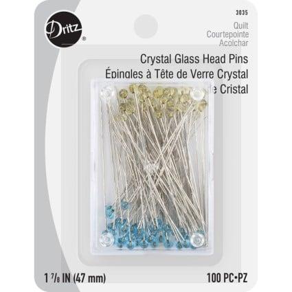 Glass Head Pins DRI3035 1.875 100ct