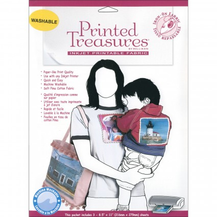 Printed Treasures - Inkjet Printable Fabric 3 ct IT100