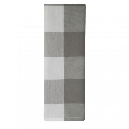 819 GY Farmhouse 3 grey/white Check Tea Towel