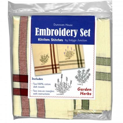 Garden Herbs Embroidery Set