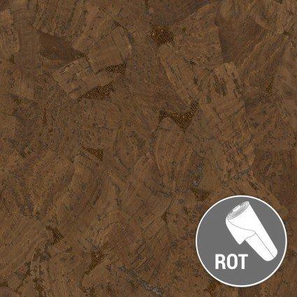 1 Yard Cork/Metallic Glossy Marble Brown