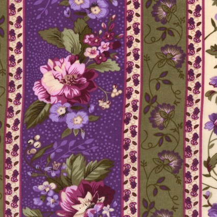 Fabric Traditions - Lavender French Country-Border Print/Violet - 9312-B