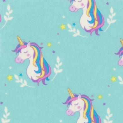Flannel Unicorn Prints EESFLP93624-AQU 93624